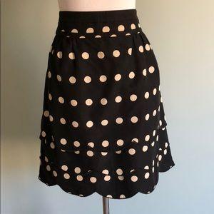 ✨ Anthro Floreat tiered dot scalloped midi skirt 8
